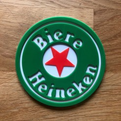 Download free 3D model coaster heineken, fantibus14