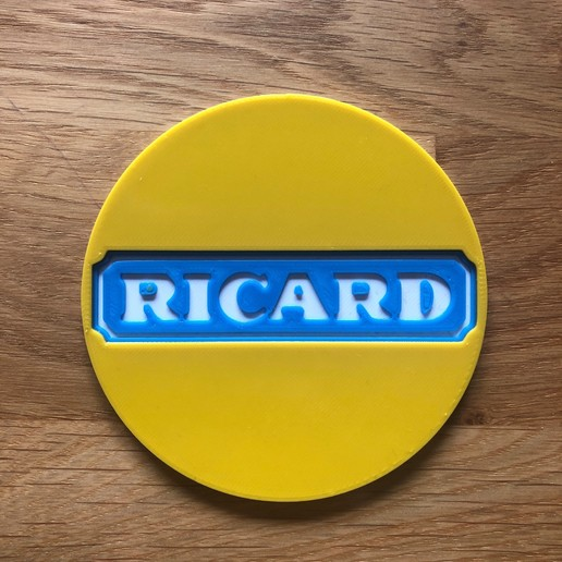 Download free 3D model ricard coaster, fantibus14