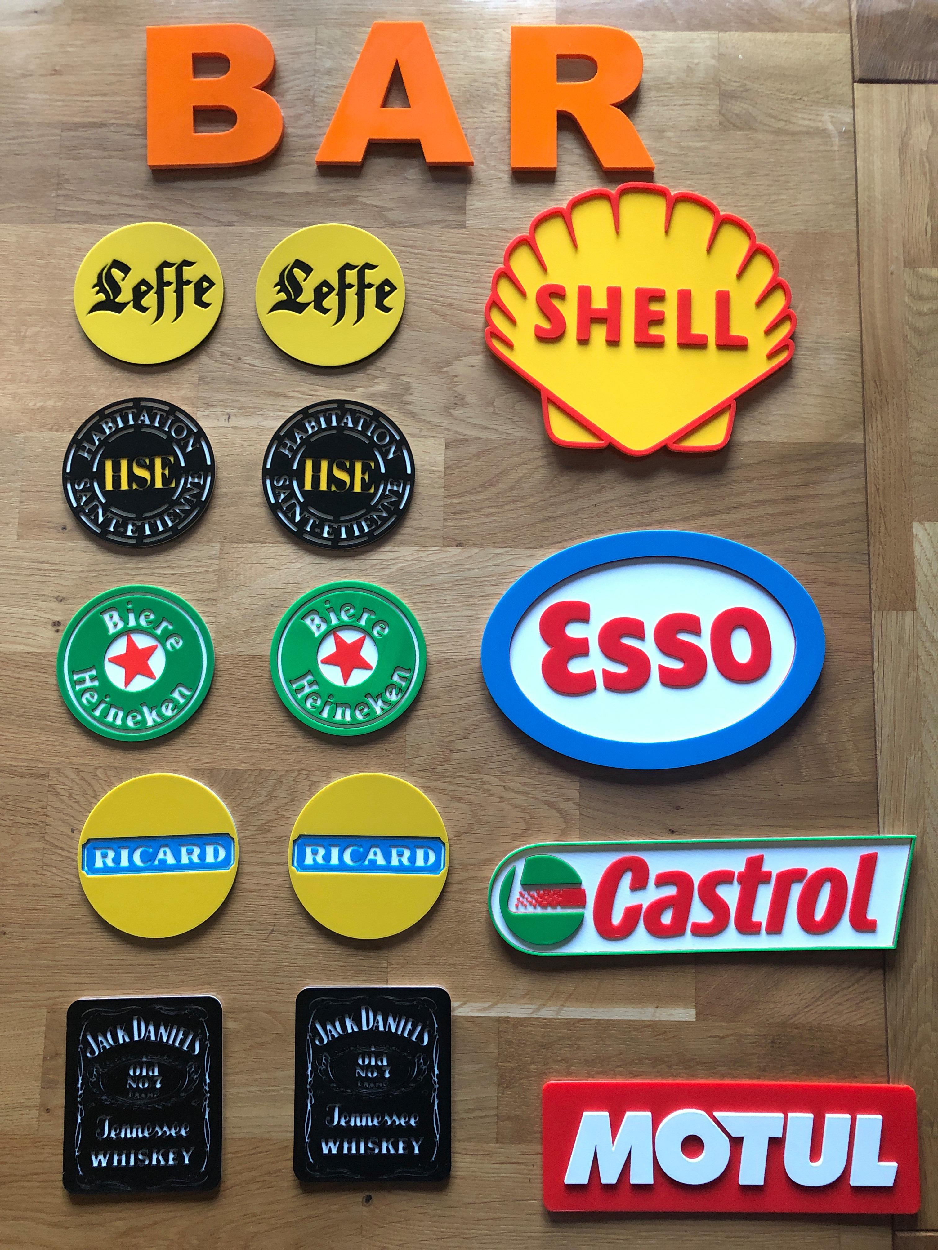 dessous et plaque.jpg Download free STL file HSE coaster • Design to 3D print, fantibus14