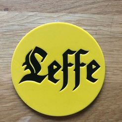 Download free 3D printer templates leffe coaster, fantibus14
