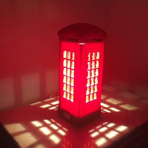 Download free 3D printing models London Telephone Table Lamp, MartinHaurane