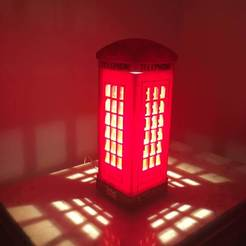 Download free 3D printing models London Telephone Table Lamp, MartinHaurane
