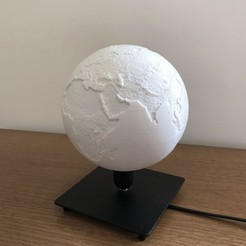 world off.jpeg Télécharger fichier STL gratuit Lampe de table du monde • Objet pour impression 3D, MartinHaurane