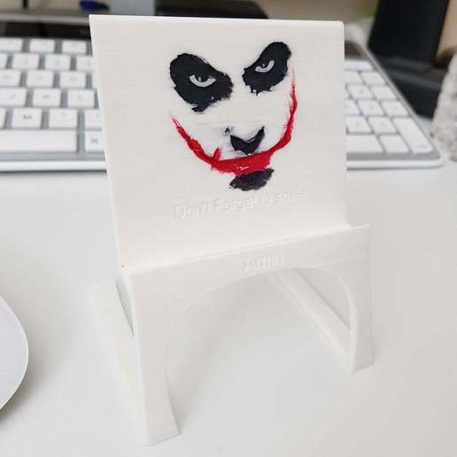 Download free STL files Light Phone Stand - Joker :), Amino