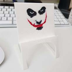 joker1.jpg Download free STL file Light Phone Stand - Joker :) • 3D printing design, Amino