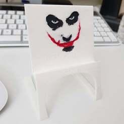 Download free STL file Light Phone Stand - Joker :) • 3D printing design, Amino