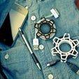Gear-Wrap.jpg Download free STL file USB cord holdee • 3D printing design, osayomipeters