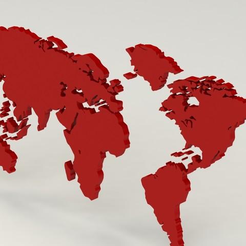 6.JPG Download free STL file World map • 3D print template, osayomipeters