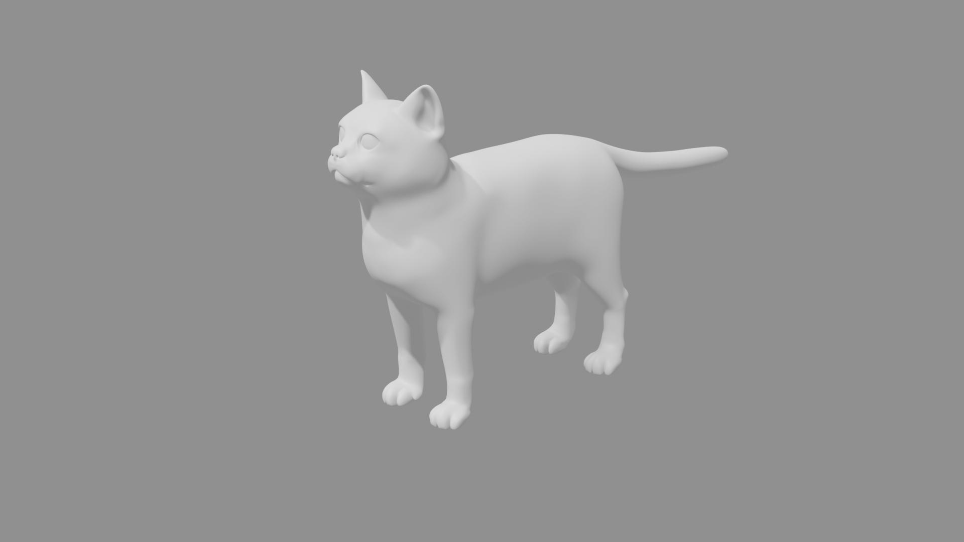 Cat7.png Télécharger fichier STL gratuit Chat • Modèle pour impression 3D, osayomipeters