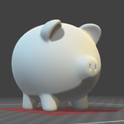 Download free OBJ file Piggy bank • 3D printer object, osayomipeters