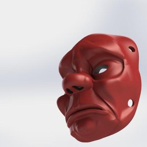 2-1.JPG Télécharger fichier STL gratuit Masque • Objet pour impression 3D, osayomipeters