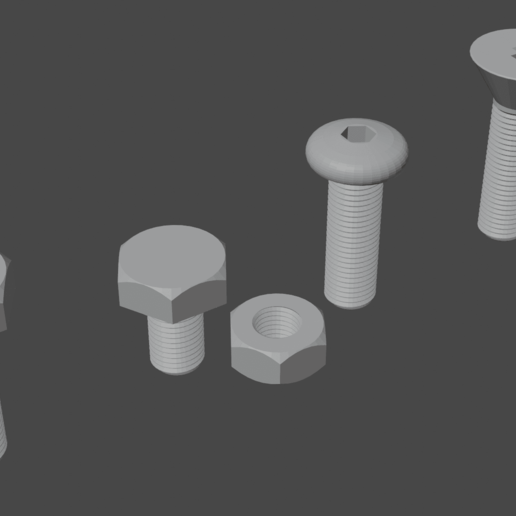 0003.png Download free STL file Bolts and nut • 3D print template, osayomipeters