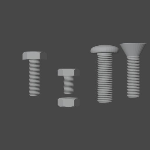 Télécharger modèle 3D gratuit Boulons et écrous, osayomipeters