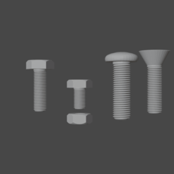 Download free STL file Bolts and nuts • 3D print design, osayomipeters