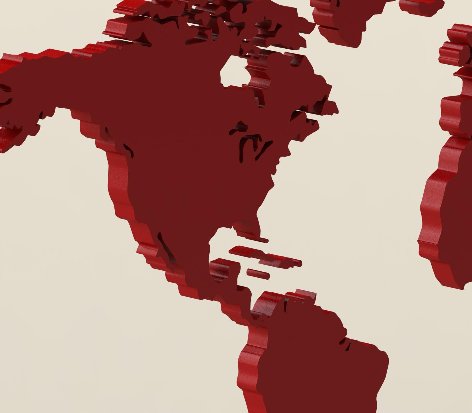 4.JPG Download free STL file World map • 3D print template, osayomipeters