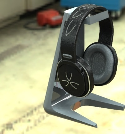 preview-1.JPG Download free STL file Headphone stand • 3D printable object, osayomipeters