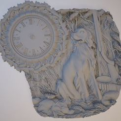 3D printing model The clock and the dog, osayomipeters