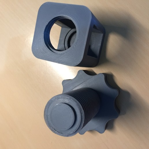 IMG_5743.JPG Download free STL file Bottle Cap Squasher / Nut Cracker • 3D print object, OwtFromNowt