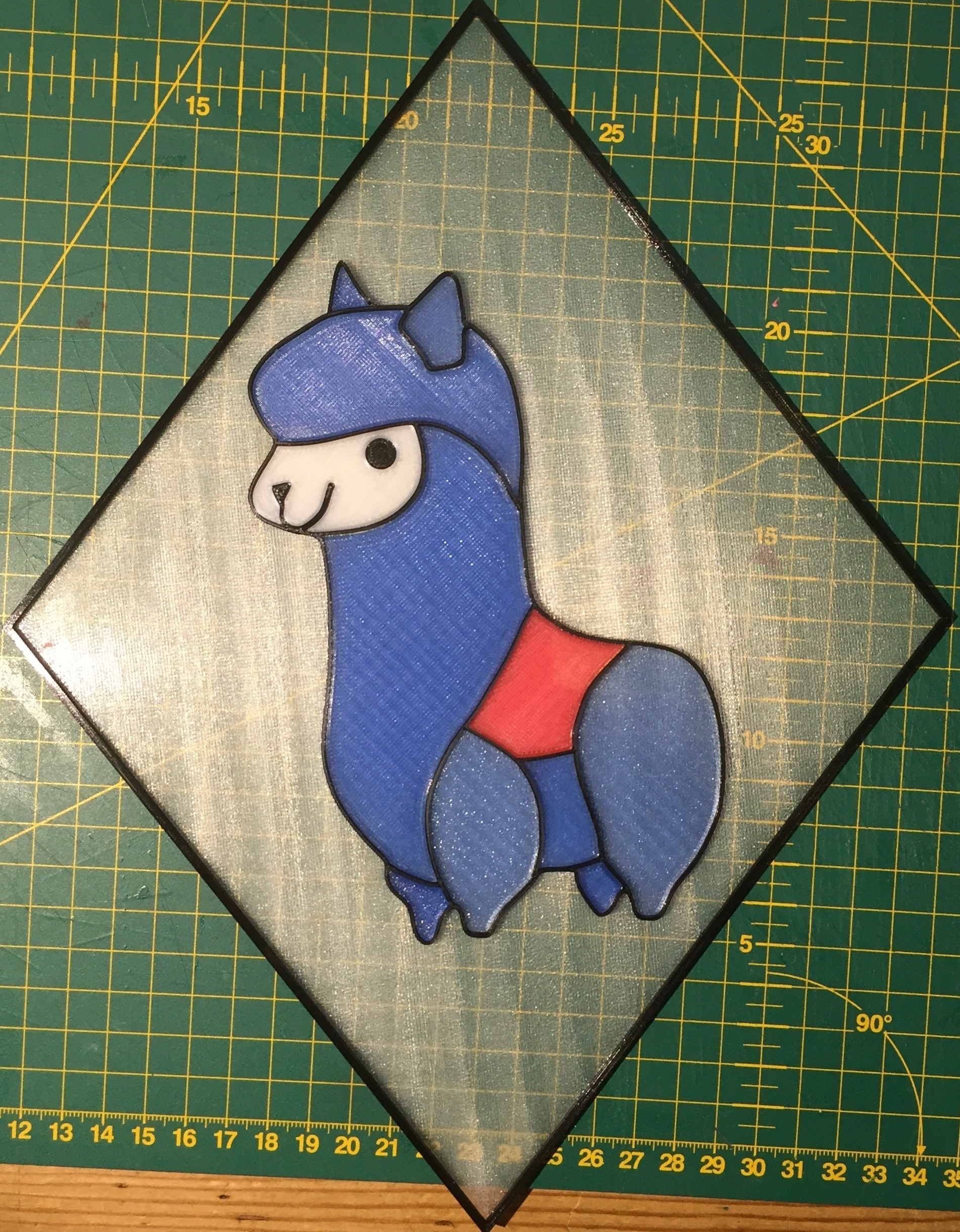 """IMG_0592.jpeg Download free STL file Alpaca Sun Catcher - """"Stained Glass"""" • 3D printing object, OwtFromNowt"""