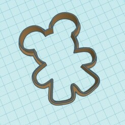 gm.jpg Download STL file Gingerbread Mickey Cookie Cutter • 3D printable template, krmina7