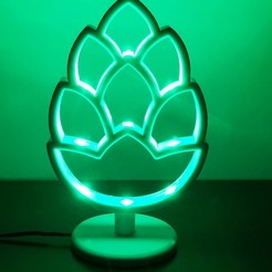 Download 3D printer files hop beer lamp with smd leds !!!, maxibarac