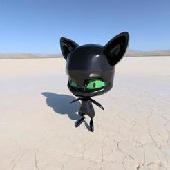 Imprimir en 3D Plagg, el personaje de Miraculous LadyBug, TomasTN