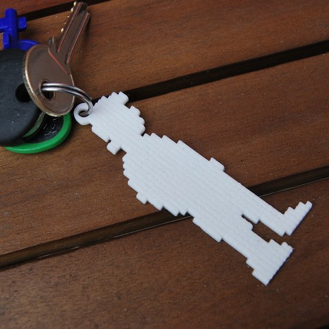 Download STL file Monkey Island Guybrush Threepwood keyrings • 3D printable design, 3dsc