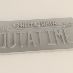 Download STL file License plate of the machine Back to the Future • 3D printable design, 3dsc