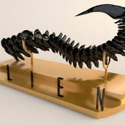 1.jpg Download STL file The tail of alien • 3D print design, 3dsc