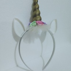 Download STL file Unicorn headband, IM3D