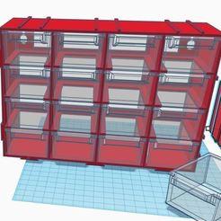 cajonera.JPG Download free STL file Stackable storage drawer 4x4 • 3D printable design, latriplec