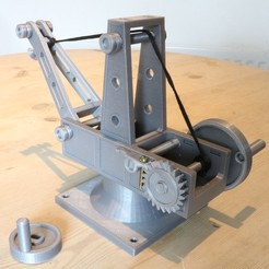 STL files Mechanical Advantage Demonstration Crane, Aeropunk3d