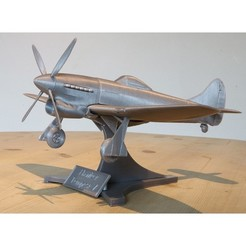 3D printing model Hawker Tempest V WW2 Fighter Plane, Aeropunk3d