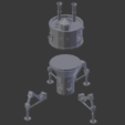 Free 3D print files Steampunk Mobile Turret, Aeropunk3d