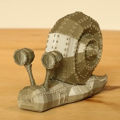 Download STL files Steampunk Snail, Aeropunk3d