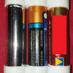 20201225_102933.jpg Télécharger fichier STL gratuit couppleur de piles AA 4.5 V,              4.5 V battery coupler AA • Design pour impression 3D, jhau