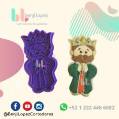 24.png Télécharger fichier STL L'emporte-pièce de la nativité du roi de Noël • Objet pour impression 3D, BenjiLopezCortadores