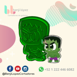 23.png Download STL file Avenger Hulk Cookie Cutter • 3D print design, BenjiLopezCortadores