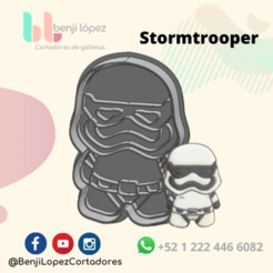 StarWars Stormtrooper.png Télécharger fichier STL STARWARS STORMTROOPER COOKIE CUTTER • Plan pour impression 3D, BenjiLopezCortadores