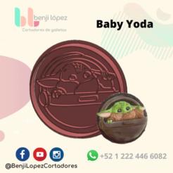 StarWars Baby Yoda en nabe.png Télécharger fichier STL STARWARS BABY YODA COOKIE CUTTER • Modèle à imprimer en 3D, BenjiLopezCortadores