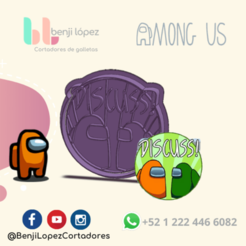 11.png Download STL file AMONG US COOKIE CUTTER DISCUSS! • Template to 3D print, BenjiLopezCortadores