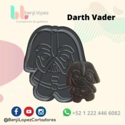 StarWars Darth Vader.png Télécharger fichier STL STARWARS DARTH VADER COOKIE CUTTER • Objet pour imprimante 3D, BenjiLopezCortadores