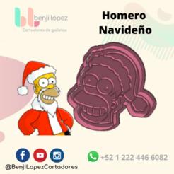 BenjiLopezCortadores (18).png Télécharger fichier STL HOMER SIMPSOM CHRISTMAS COOKIE CUTTER/ HOMER SIMPSON CHRISTMAS COOKIE CUTTER • Design pour impression 3D, BenjiLopezCortadores