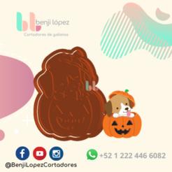 12.png Download STL file HALLOWEEN PUMPKIN DOG COOKIE CUTTER - HALLOWEEN PUMPKIN DOG COOKIE CUTTER • 3D print design, BenjiLopezCortadores