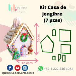 BenjiLopezCortadores (11).png Download STL file KIT GINGERBREAD HOUSE CHRISTMAS COOKIE CUTTER/ KIT GINGERBREAD HOUSE CHRISTMAS COOKIE CUTTER • 3D print design, BenjiLopezCortadores