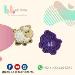 31.png Download STL file CHRISTMAS SHEEP NATIVITY COOKIE CUTTER/ BORREGO NAVIDAD CORTADOR DE GALLETAS • 3D printing model, BenjiLopezCortadores