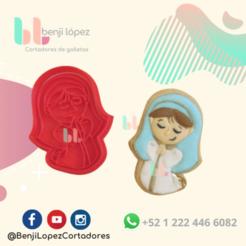 27.png Télécharger fichier STL L'EMPORTE-PIÈCE DE LA NATIVITÉ DE MARIA CHRISTMAS • Plan imprimable en 3D, BenjiLopezCortadores