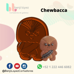 StarWars Chewbacca.png Télécharger fichier STL STARWARS CHEWBACCA COOKIE CUTTER • Plan pour imprimante 3D, BenjiLopezCortadores