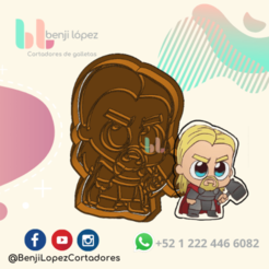 24.png Download STL file Avenger Thor Cookie Cutter • Template to 3D print, BenjiLopezCortadores