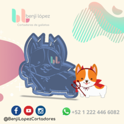 13.png Download STL file HALLOWEEN DEVIL DOG COOKIE CUTTER • 3D printing model, BenjiLopezCortadores